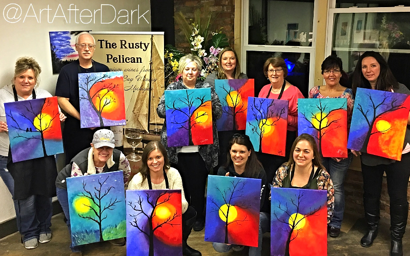 "The Original ""Paint & Sip"" Classes"